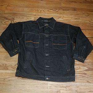 Koman Sports Jean Jacket W/ Pockets large Men